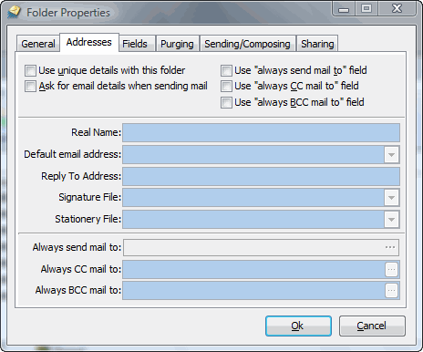 Folder Addresses Properties Screenshot